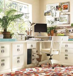 A girl that works a lot at home definitely needs a cool home office, and if it's only her office, why not make it refined and feminine? There are so many ways and ideas to do that! Have a look: exquisite classical furniture – may be antique, pastel colors that would add romance to the