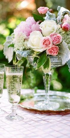 What's a party without champagne and roses?!? What is LIFE without champagne and roses?!?