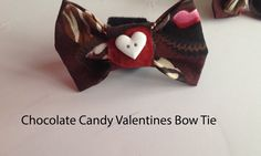 Valentine's Day Chocolate Candy Dog & Cat Collar Bow Tie