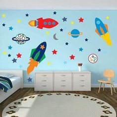 Boys: planet decorations for kids room Wall Stickers For Boys Bedrooms Best Kids Bedroom Wall Decals Top Rocket Boy Room Classic Child Colorful Planet Decoration Prodigious Carpet planet decorations for kids room Kids Room Wall Stickers, Wall Decals For Bedroom, Boy Toddler Bedroom, Kids Bedroom, Room Kids, Master Bedroom, Space Kids, Lego Bedroom, Child Room