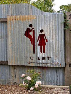 Restroom sign in Australia. Funny...?