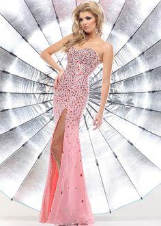 Sparkle 71306 - Blush Strapless Heavily Beaded Prom Dresses Online #thepromdresses