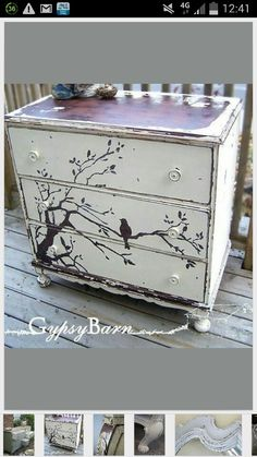 Stencil Idea for Chest of Drawers