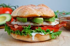 Grilled Chicken Club Sandwich with Avocado and Chipotle Caramelized Onions