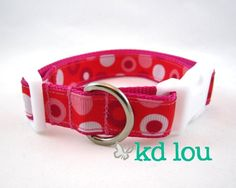 Valentine Dots Dog Collar www.facebook.com/kdlou
