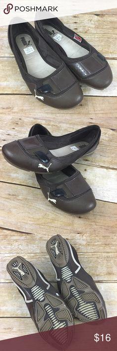 "Puma Brown Flats ""Sport Lifestyle"" Slip On Puma Brown Flats ""Sport Lifestyle""   Rubber Sole. Very good condition. Puma Shoes Flats & Loafers"