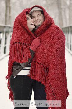 winter couple shoot, blanket, holiday Christmas photoshoot, snow shoot couple Princeton NJ  http://estheredithgalleries.com/