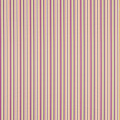 Sanderson Candy Stripe Fabric Designer Fabrics and Wallpapers by Sanderson, Harlequin, Morris, Osborne, Little And many Magenta, Harlequin Fabrics, Sanderson Fabric, Made To Measure Curtains, Candy Stripes, Striped Fabrics, Fabric Design, Balloons, Traditional