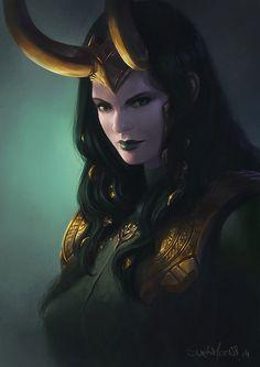 Lady Loki by SulaMoon.deviantart.com on @deviantART