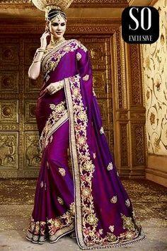 Sari designer Mariage Pooja Violet