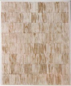 Gesto Branco Variação 2 Monotipias sobrepostas em têmpera branca e dourada, sobre setenta e duas partes de tecido de algodão; círculo em giz branco sobre o campo total. Cada parte: 20x 15 cm, perfazendo um campo de 152 x 124 cm R$: 7.787,11