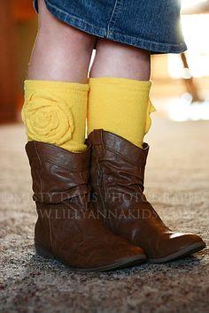 Fleece leg warmers