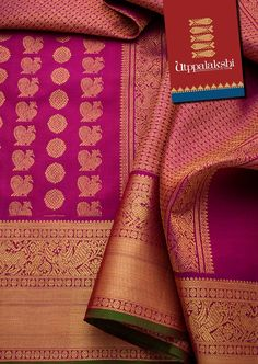 The handwoven zari-rich saree has mythical beasts, annapakshi birds featured elaborately on the pallu and border. On the body, peacocks and bhuttis are represented in rows. #Utppalakshi #Silksaree#Kancheevaramsilksaree#Kanchipuramsilks #Ethinc#Indian #traditional #dress#wedding #silk #saree #weaving#Chennai #boutique #vibrant#exquisit#weddingsaree#sareedesign #colorful #vivid #indian #southindian #bridal #festival #sophistication   https://www.facebook.com/Utppalakshi/ Contact: 097899 37149
