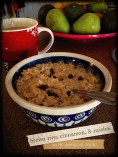 Rice for Breakfast on Pinterest | Brown Rice, Rice Puddings and Rice ...