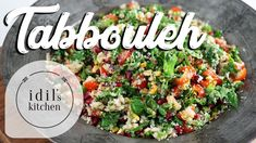 Tabbouleh Salad 🍀🍅 A LEVANTINE CLASSIC | VEGAN - YouTube Healthy Dishes, Healthy Salads, Easy Mediterranean Recipes, Vegetarian Recipes, Healthy Recipes, Turkish Recipes, Cobb Salad, Appetizers, Vegan
