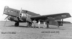 French Bloch MB.210 medium bomber (introduction - 1937; build - 300; speed - 322 km/h; bombs - 1,600 kg)