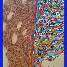 L'albero della fantasia Acrilico su tela (50x70)cm