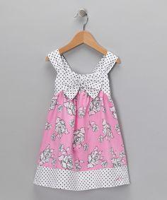 Pink Rose & Polka Dot Swing Dress - Infant & Toddler
