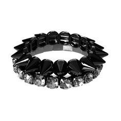 black gunmetal spikes studs bracelets