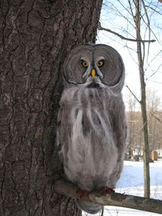 Hey, I found this really awesome Etsy listing at https://www.etsy.com/listing/182087869/needle-felted-animal-great-grey-owl