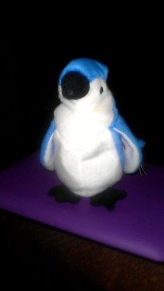 TY 'Rocket', Blue Jay, beanie baby, March 12, 1997, good shape. Ages 4+ #Ty