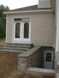 Idea For Back Porch And Outside Basement Entrance