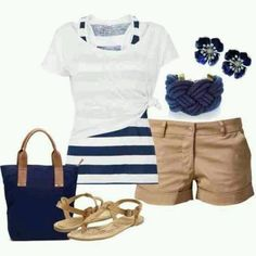Cute cruise outfit! now I need to buy everything in this picture even the purse lol I can do without the jewelry