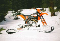 The Timbersled Mountain Horse :: turn your dirt bike to a snowmobile
