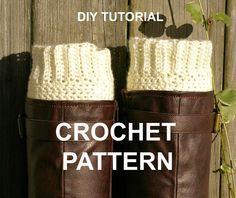 DIY Crochet Pattern PDF Ribbed Boot Cuffs Boot by CandacesCloset, $5.00