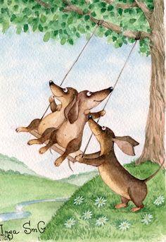 Doxie swingers!