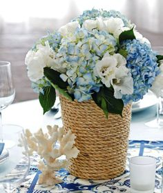 Fabulous DIY Wedding Centerpieces DIY Rope-Wrapped Centerpiece  Visit  Like our Facebook page! https://www.facebook.com/pages/Rustic-Farmhouse-Decor/636679889706127