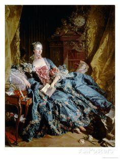 Madame De Pompadour Giclee Print by Francois Boucher at AllPosters.com