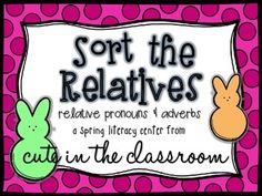 """""""Sort the Relatives"""" Pronouns & Adverbs Literacy Center Fourth Grade Science, 4th Grade Writing, 4th Grade Reading, Nouns And Adjectives, Adverbs, Adverb Activities, Relative Pronouns, Student Teaching, Teaching Ideas"""