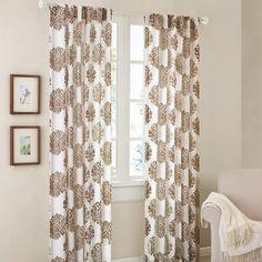 "Reese Mdallion Burn-Ot Sher Curtain Panel - Grey (52""x95"") : Target"