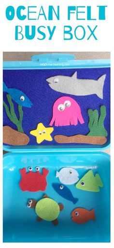 Ocean Felt Busy Box Make this fun Ocean themed busy box from a lunch box and a few scraps of felt!