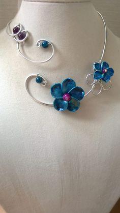 Statement necklace wedding jewelry  by LesBijouxLibellule on Etsy