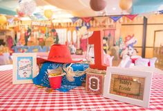 Jeremy's Cowboy Themed Party - Table centerpieces