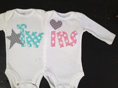 Boy girl twin onesies Boy girl twins twin by PaisleyPrintsSpokane, $38.95