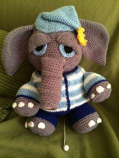 Häkelanleitung - Elefant Eddy - Häkelanleitungen bei Makerist