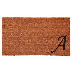 Momentum Mats Urban Chic Monogram Doormat (1'6 x 2'6) (Letter H), Black (Coir)