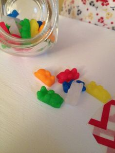 Polymer Clay Gummy Bear Candies for American by KitnKaboodleART, $9.50
