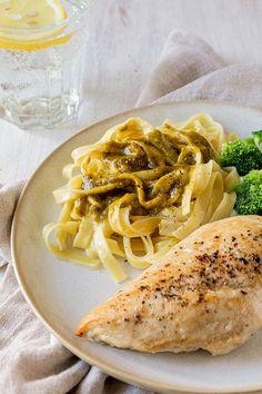 Tagliatelle mit Pistazien-Oberssauce  Rezept - Schnell gemachte Tagliatelle mit Pistazien-Oberssauce.  #tagliatelle #pistazien #pistazienoberssauce #rezept #vegetarisch