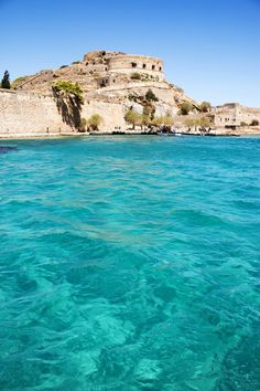 Spinalonga Bay, Crete, Greece... we could see it from our suite at Blue Palace Resort Elounda.