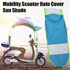 Ombrello Copertura di pioggia Sole blu Per motore elettrico scooter E-Scooter