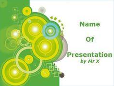 Green Circles Powerpoint Presentation Template
