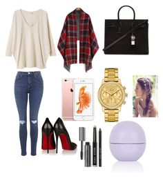 """""""Untitled #16"""" by anapascual on Polyvore featuring Topshop, EAST, Christian Louboutin, Yves Saint Laurent, Lacoste and Bobbi Brown Cosmetics"""