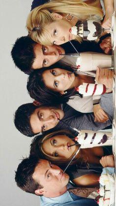 Chandler, Rachel, Ross, Monica, Joey, and Phoebe