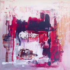 """abstract art for sale Original abstract art """"Winter Paradise"""" by Paresh Nrshinga buy online"""