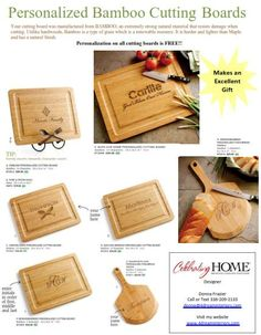 Personalized Bamboo Cutting Boards Makes a great wedding, housewarming gift.  Prices starting at $25.00 Personalization is FREE.