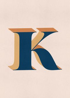 Blue K by daylight design studio | #Typography #Symbols #Alphabet #Letters #Blue #Ivory #JUNIQE | See more designs at www.juniqe.co.uk Letter K Design, Kids Bed Linen, Typography Quotes, Kid Beds, Book Gifts, Childrens Books, Coloring Books, Symbols, Lettering